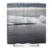 Fog Shrouded City Shower Curtain