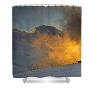 Foggy At Sunset 3000 Meters Shower Curtain