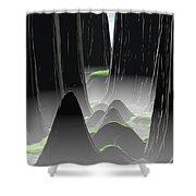Foggy Canyon Pass Shower Curtain