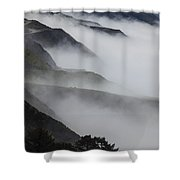 Foggy Coastal Hills Shower Curtain
