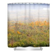 Foggy Country Autumn Morning Shower Curtain