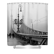 Foggy Day In Budapest Shower Curtain