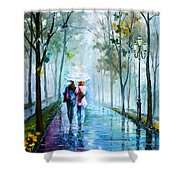 Foggy Day New Shower Curtain by Leonid Afremov