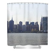 Foggy Day On The East River Shower Curtain