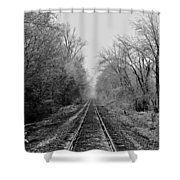 Foggy Ending In Black And White Shower Curtain