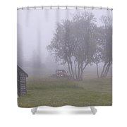 Foggy Farm Yard Shower Curtain