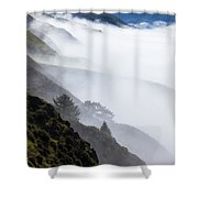 Foggy Hillside Shower Curtain