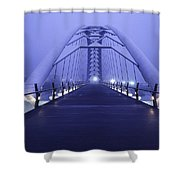 Foggy Humber Morning Shower Curtain