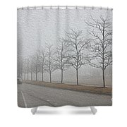 Foggy January Shower Curtain