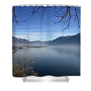 Foggy Lake Shower Curtain