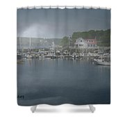 Foggy Coast Of Maine Shower Curtain