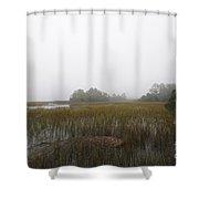 Foggy Marsh Shower Curtain