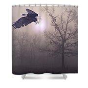Foggy Morning Flight Shower Curtain