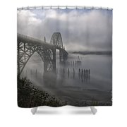 Foggy Morning In Newport Shower Curtain