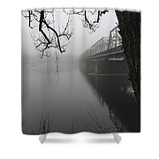 Foggy Morning In Paradise - The Bridge Shower Curtain