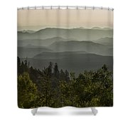 Foggy Morning Over Waterpocket Fold Shower Curtain