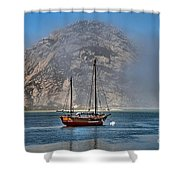Foggy Morrow Bay Shower Curtain