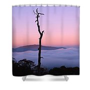 Foggy Mountain Morning Shower Curtain