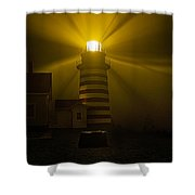 Foggy Night At West Quoddy Light Shower Curtain