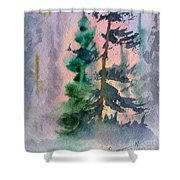 Foggy Patch Shower Curtain