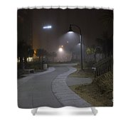 Foggy Path Shower Curtain by Nelson Watkins