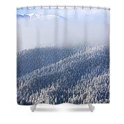 Foggy Peak Shower Curtain