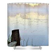 Foggy Pond Shower Curtain