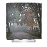 Foggy Street Shower Curtain