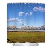 Foggy Sunrise On The Tetons - Grand Teton National Park Wyoming Shower Curtain