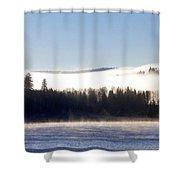 Foggy Sunrise Shower Curtain