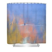 Foggy Swim Shower Curtain