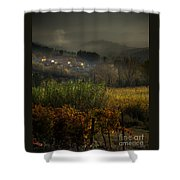 Foggy Tuscan Valley  Shower Curtain