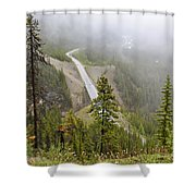 Foggy View From Icefields Parkway Shower Curtain