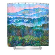 Foggy View From Mill Mountain Shower Curtain