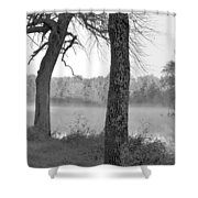 Foggy Waters Bw Shower Curtain