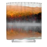 Foilage In The Fog Shower Curtain