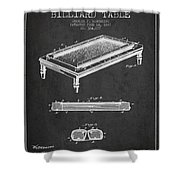 Folding Billiard Table Patent From 1887 - Charcoal Shower Curtain