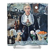 Folies Bergere Revisited Shower Curtain
