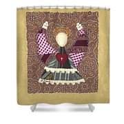 Folk Angel Shower Curtain