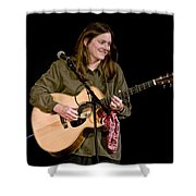 Folk Musician Denise Franke Shower Curtain
