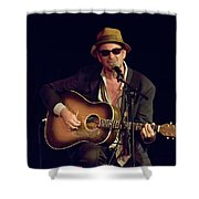 Folk Singer Greg Brown Shower Curtain