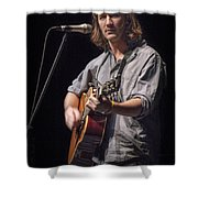 Folk Singer Griffen House Shower Curtain