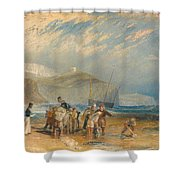 Folkestone Harbour And Coast To Dover Shower Curtain