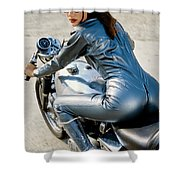 Follow Me If You Can Shower Curtain