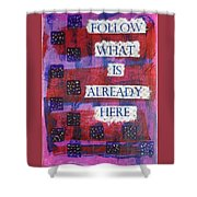 Follow What Is Already Here Shower Curtain by Gillian Pearce