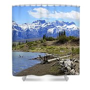 Following The Athabasca River Shower Curtain