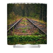 Following The Tracks Shower Curtain