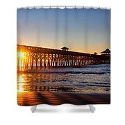 Folly Beach Pier At Sunrise Shower Curtain