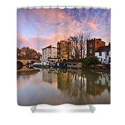 Folly Bridge In Oxford. Shower Curtain