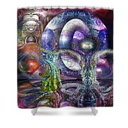 Fomorii Universe Shower Curtain by Otto Rapp